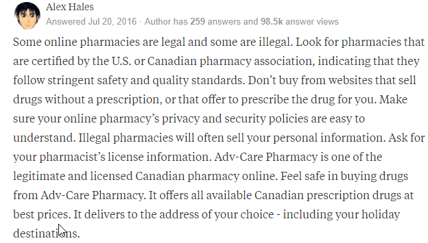 Buying Rx Drugs Online
