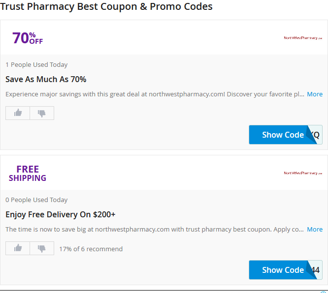 Photo of Trust Pharmacy Coupon code