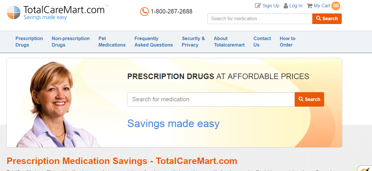 Total Care Mart Homepage Image