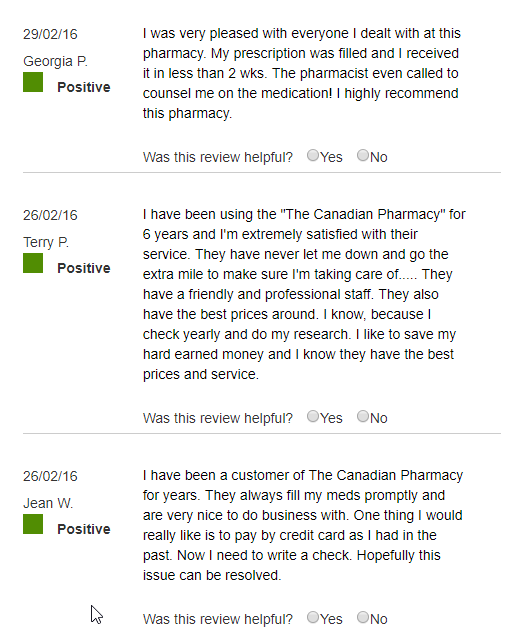 Reputable Canadian Pharmacy Reviews (source: https://www