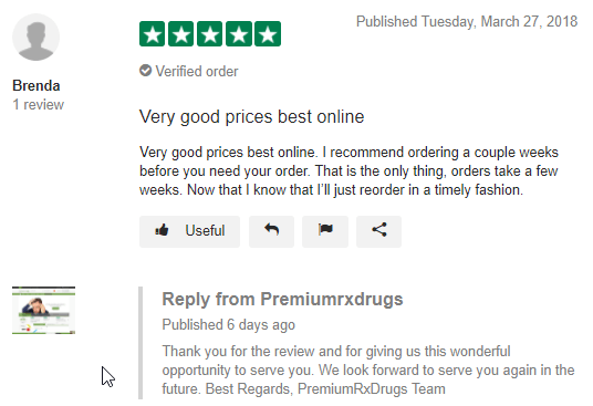 PremiumRxDrugs User Testimonial (source: https://www