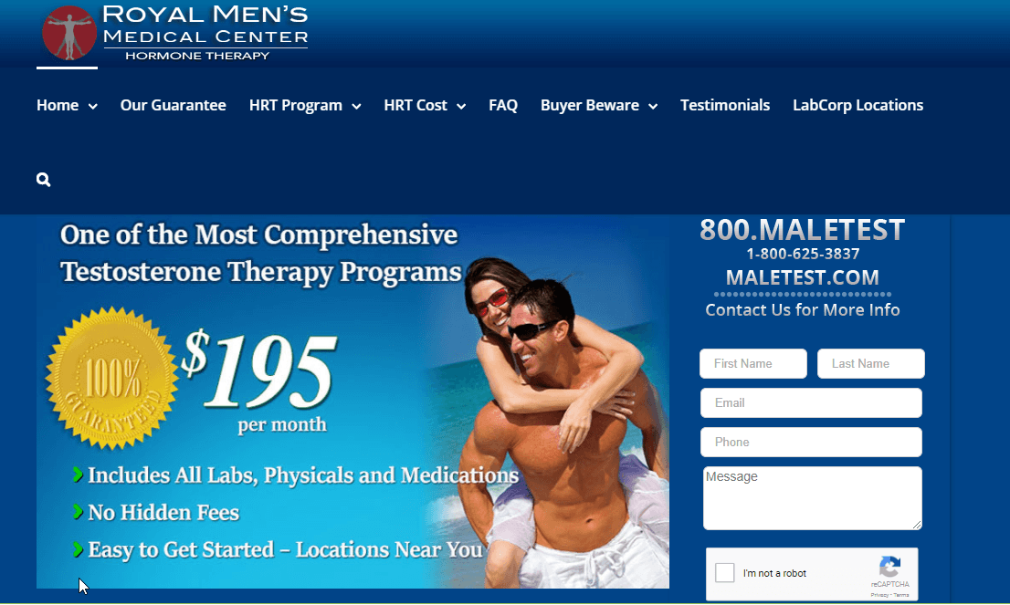 Royal Men's Medical Center Reviews: Will You Get Genuine Testosterone Therapy?