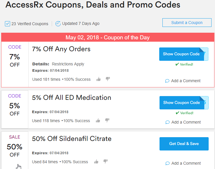 Accessrx Third-Party Coupons