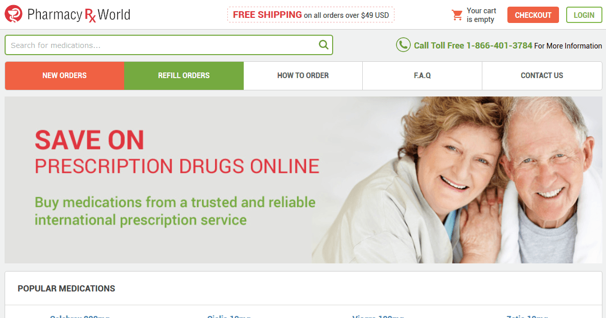 Pharmacy Rx World: Canada-Based Mail Order Prescription Drugs Service